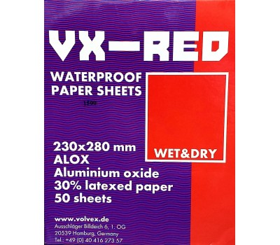 VX-RED Наждачная бумага (мокрая) P2000, 1 шт
