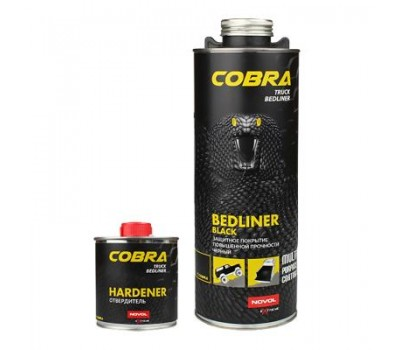 Novol 90363 COBRA Truck Bediner Черное защитное покрытие 0,6л+0,2л___ 0,8л