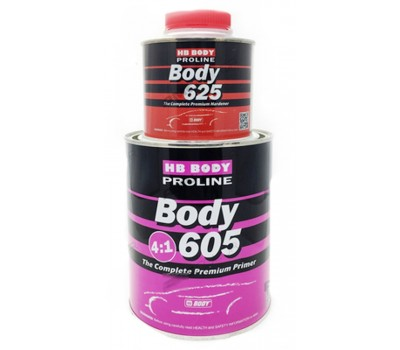 Body 605 Грунт PROLINE 4:1 серый___0,8 л+0.2л отв.