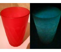 Краска для стекла и керамики полиуретановая люминесцентная, красный (зелёный) 100г