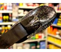 ЛАК c флейками КРУПНЫМИ бесцветный полиуретановый для кожи, кожзама, пвх,  100г