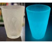 Краска для стекла и керамики полиуретановая люминесцентная, молочный (голубой) 100г