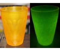 Краска для стекла и керамики полиуретановая люминесцентная, жёлтый (лайм) 100г