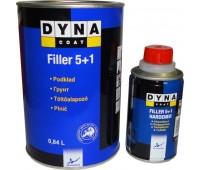 DYNACOAT Грунт Acrylic Filler 5+1 черный с отвердителем литр 0,84 + 0,16