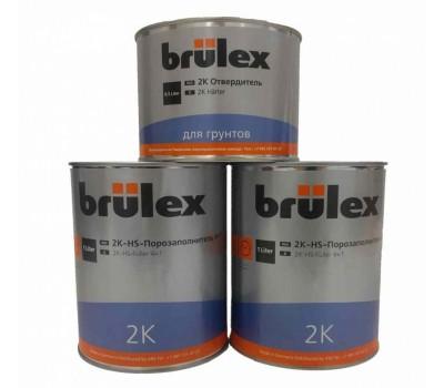 Brulex (928542126) 2К-HS Грунт-порозаполнитель светло-серый 4:1, 4 литра + 1литр отвердителя