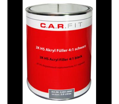 CarFit (4-201-3600) 2К Акрил. грунт-наполнитель HS 4:1 черный 3,6 литра + 0,9 отвердителя