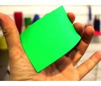 Краски для изделий из резины полиуретановые флуоресцентные ультраяркие, цвет ЗЕЛЁНЫЙ, на развес 100г+10г (краска+отвердитель)