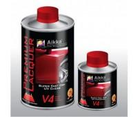 Aikka V 4 SET Super Fast DRY UV  лак 4:1, 1 литр + 0,25 отвердителя