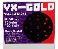Круг VX-Gold 150 мм P120 15 отв