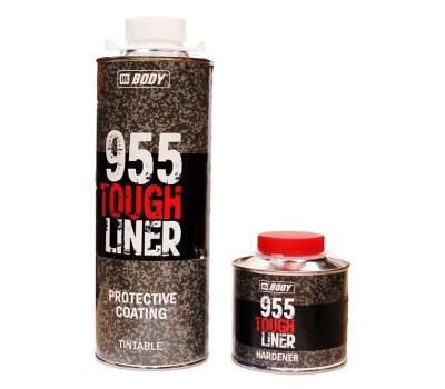 Body 955. Сверхпрочное двухкомпонентное защитное покрытие TOUGH LINER, 0,8кг (ЧЁРНЫЙ)
