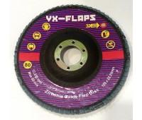 VX-FLAPS Круг лепестковый торцевой 125*22 AL 80C