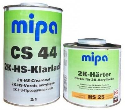MIPA 2K-HS-Klarlack CS 44 керамический лак 2:1 - 1л., отвердитель к лаку HS 25 - 0,5 л