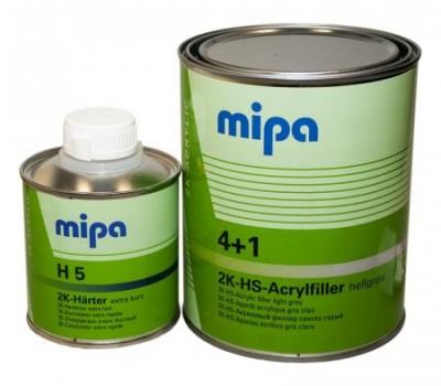 MIPA F54 2К Грунт наполнитель чёрный 4+1 с отвердителем H5___1л + 0,25л