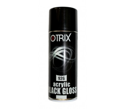 Otrix 926 краска акриловая черная глянцевая спрей 400мл