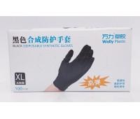 Wally Plastic перчатки нитриловые XL__100 шт.