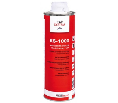 CARSYSTEM. (149266) KS-1000 антигравийное покрытие, евробаллон 1л (белый)