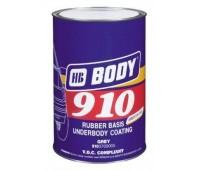 Body 910. Антикор для днища и арок серый, 1кг