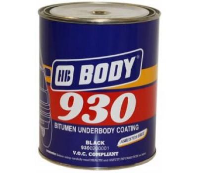 Body 930. Антикор для днища и арок  черный;  2,5кг