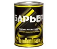 """Поликомпласт. """"Барьер"""" мастика антишумовая  0,9кг"""