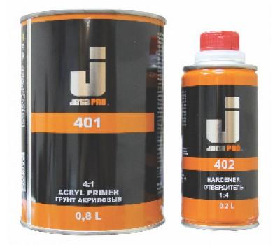 JetaPro 401 (5553) Грунт 4+1 акрил серый с отверд. 0,8л+0,2л