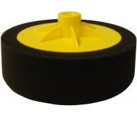 NOVOL. Полировальный круг C, мягкий, 150/50 мм с резьбой М14 (чёрный)