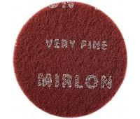 MIRKA. Шлифовальный войлок (скотчбрайт) MIRLON Very Fine (8024101037), круг 150мм P360 (красный)