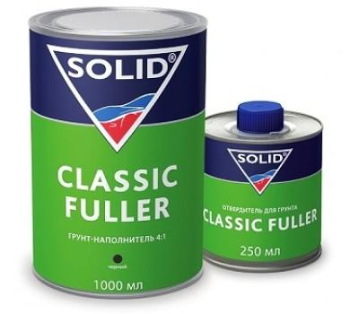 SOLID (332.1003) FULLER HS 4+1  Грунт-наполнитель + отвердитель, серый 0,8л + 0,2л.