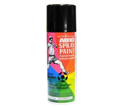 ABRO. SP- 012 Краска чёрная матовая спрей, 227 гр