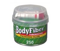 Body 250. Fiber-Soft  шпаклевка полиэфирная со стекловолокном с отвердителем, 0.25 кг