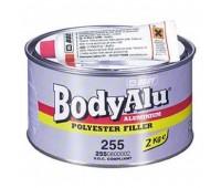 Body 255. Шпаклевка полиэфирная алюминиевая с отвердителем, 2 кг