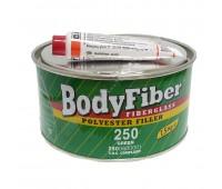 Body 250. Fiber-Soft  шпаклевка полиэфирная со стекловолокном с отвердителем, 1.5 кг