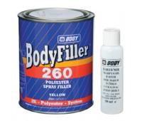 Body 260. Шпаклевка полиэфирная жидкая с отвердителем, 1.65 кг