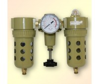 """Voylet. AFRL-980 фильтр-влагоотделитель с регулятором давления, манометром и лубрикатором, 1/4"""""""