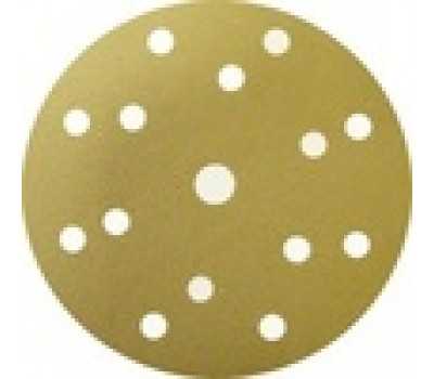 SUNMIGHT 44305 Шлифовальный круг 150мм на липучке, 15 отв., золото  Р60