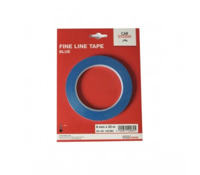 Carsystem. (140084) Контурный (дизайнерский) скотч, синий, 6мм x 33м.