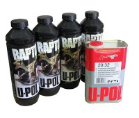 U-POL. RLT/S4 RAPTOR 2K 3:1 Защитное покрытие повышенной прочности КОЛЕРУЕМОЕ и отвердитель,  4л.