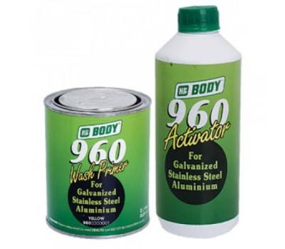 BODY 960. Wash Primer кислотный грунт с активатором, комплект 1000мл+1000мл