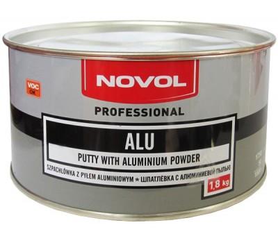 Novol 1165 Шпаклевка полиэфирная алюминиевая с отвердителем, 1.8 кг