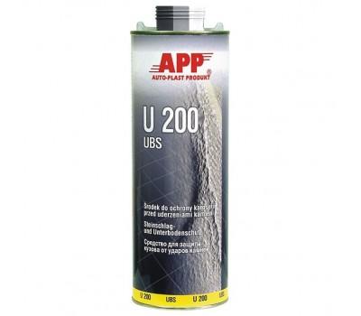 APP (050110) U200 UBS Средство для защиты кузова от ударов камней (антигравий) чёрный 1кг