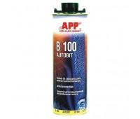 APP. B100 AUTOBIT Средство для защиты шасси автомобилей от шума, камней и коррозии 1л