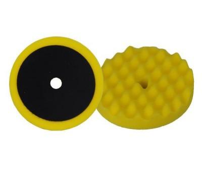 APP (080502) Полировальный круг профильный - универсальный желтый на липучке D210