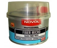 Novol. FIBER MICRO, шпаклевка полиэфирная со стекловолокном и отвердителем, 0.5 кг