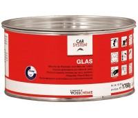 CARSYSTEM. (127974) 9301 GLAS шпаклевка полиэфирная со стекловолокном с отвердителем, 1.8 кг