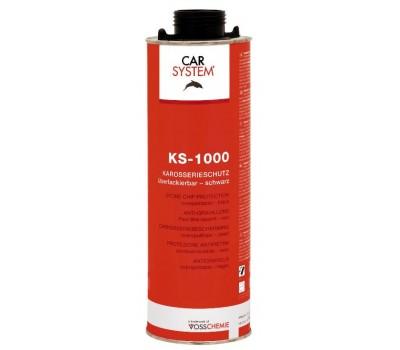 CARSYSTEM. (152622/125705) 3330 KS-1000 HS антигравийное покрытие от камней, 1л (чёрный)