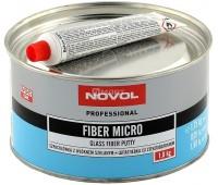 Novol. FIBER MICRO, шпаклевка полиэфирная со стекловолокном и отвердителем, 1.8 кг