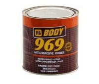 Body 969. Грунт антикоррозийный однокомпонентный 1К, коричневый, 1кг
