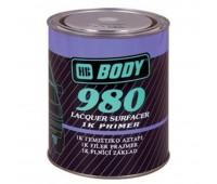 Body 980. Грунт наполнитель однокомпонентный 1К, серый, 1л