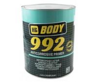 Body 992. Грунт антикоррозийный однокомпонентный 1К, серый, 5кг