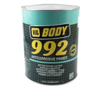 Body 992. Грунт антикоррозийный однокомпонентный 1К, черный, 20л(28кг)