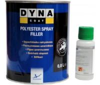 DYNACOAT. Шпатлевка распыляемая Spray FILLER с отвердителем,  0.8кг